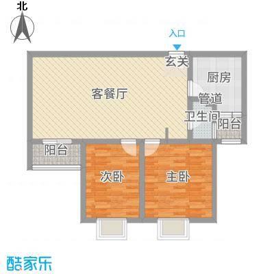 佳龙・大沃城82.79㎡10号楼C户型2室2厅1卫1厨