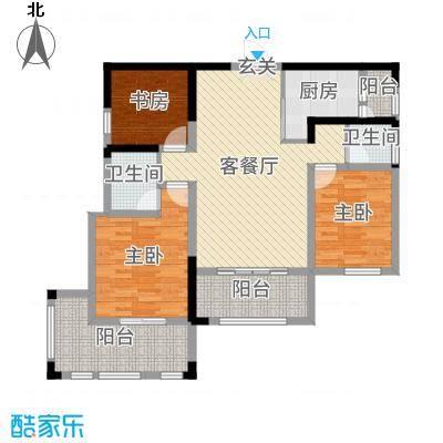 荣华水岸新城113.98㎡65#K3户型3室3厅2卫1厨