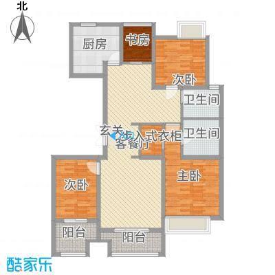 国鸿・香樟苑120.00㎡高层1#3#小高层6#号楼中间户B户型3室3厅2卫1厨