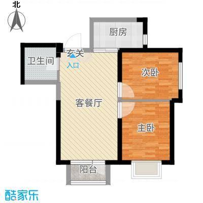 新加坡花园81.00㎡G4-b户型2室2厅1卫1厨