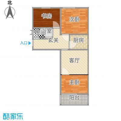 58.39平米三室零厅