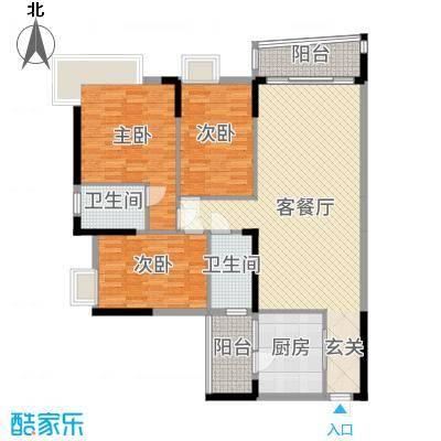 枫林水岸豪庭131.92㎡2#A单元0户型3室3厅2卫1厨