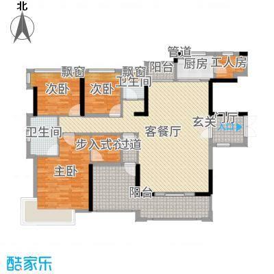 丰泰观山碧水・凌峰159.00㎡1栋1单元01/2单元02户型4室4厅2卫1厨
