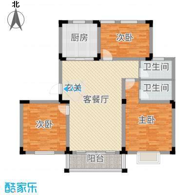 祥育苑128.00㎡D户型3室3厅2卫1厨