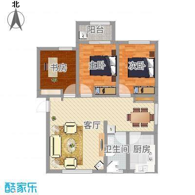 颐和庄园三期三室一厅