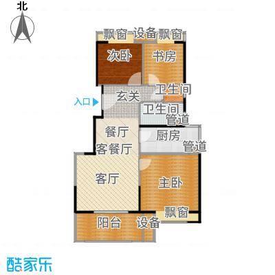 三盛松江颐景园88.00㎡A12+户型3室2厅-副本