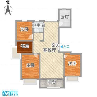 城市主人132.00㎡A1户型4室4厅4卫4厨