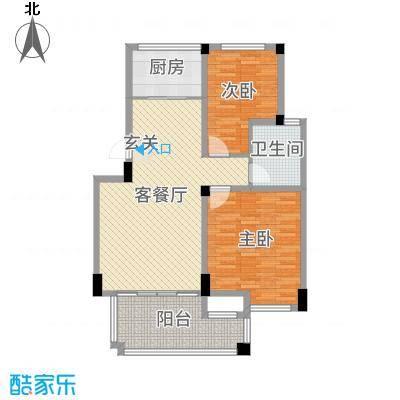 华润金色阳光98.00㎡一期花园洋房B31F户型2室2厅1卫