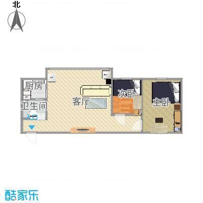 55方小2房1厅