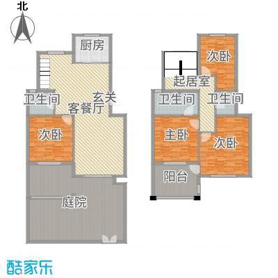 华润金色阳光98.00㎡一期复式高层E1F户型2室2厅1卫