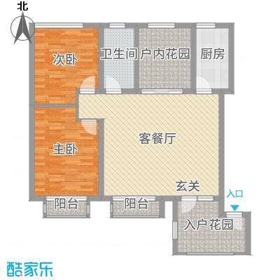 亚泰城103.00㎡标准层户型3室3厅1卫1厨