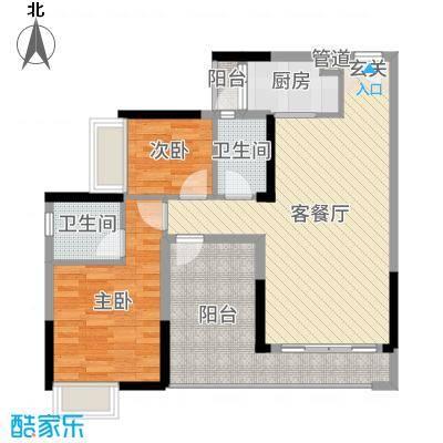 三水・帝景湾90.00㎡12座03/04单元户型3室3厅2卫1厨