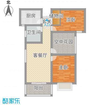 冠景・凯旋门88.73㎡冠景·凯旋门9#C3户型2室2厅1卫1厨