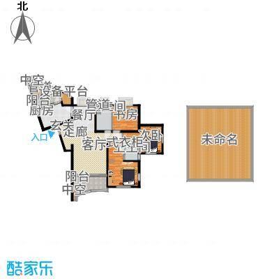 万源杰座80.60㎡房型: 二房; 面积段: 80.6 -118.7 平方米; 户型-副本