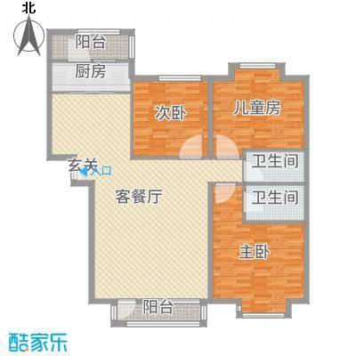兴泰东河湾149.48㎡SG4-C户型3室3厅2卫1厨