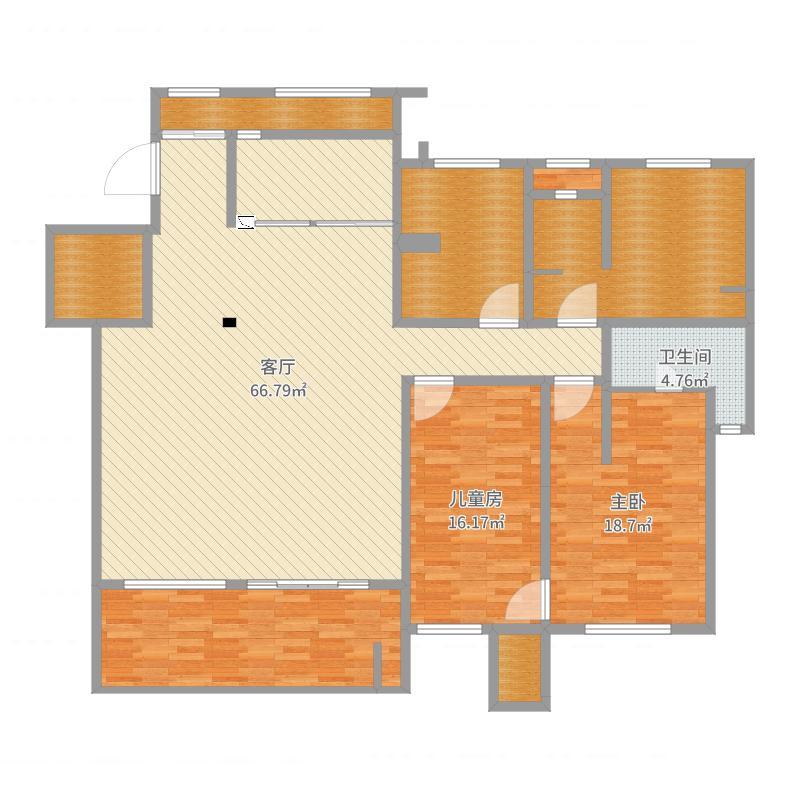 户型设计 洋房周老师  重庆 卉森秀湖鹭岛 套内面积:155.