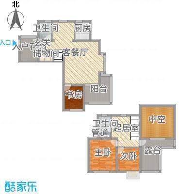 1980140.00㎡枫林水岸8号楼H2户型3室3厅2卫1厨