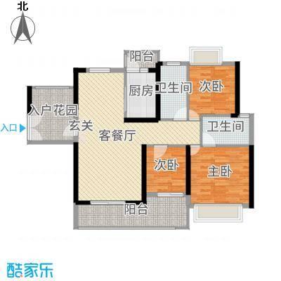 中山海雅君悦花园118.00㎡2栋03户型3室3厅2卫1厨
