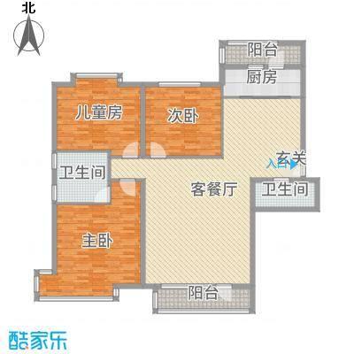 兴泰东河湾163.92㎡SG4-A户型3室3厅2卫1厨