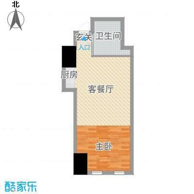 兴泰东河湾70.00㎡公寓A户型1室1厅1卫1厨