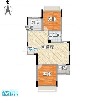新湖明珠城87.00㎡三期紫桂苑西区17#标准层A1户型2室2厅1卫1厨
