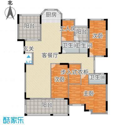 劲嘉金棕榈湾265.48㎡1栋A座2-10楼01单位户型3室3厅3卫1厨