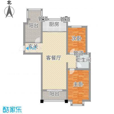 豪门又一城115.47㎡一期58#、66-71#楼标准层奇数层C户型3室3厅1卫1厨