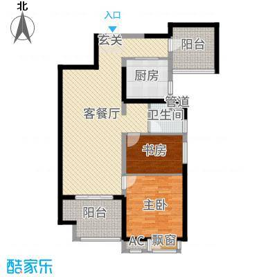 无锡万达文化旅游城105.00㎡超高层户型2室2厅1卫1厨