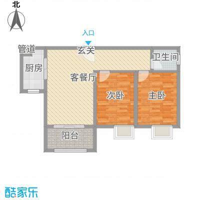漳州国贸润园90.00㎡38#A1户型2室2厅1卫1厨