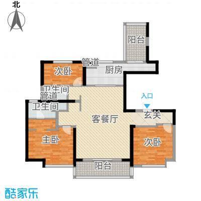 万科大明宫137.00㎡户型3室3厅2卫1厨