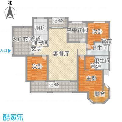 海门中南世纪锦城170.00㎡户型5室5厅2卫1厨