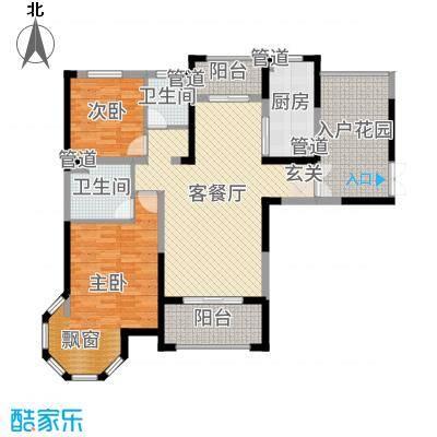 海门中南世纪锦城128.00㎡户型3室3厅2卫1厨