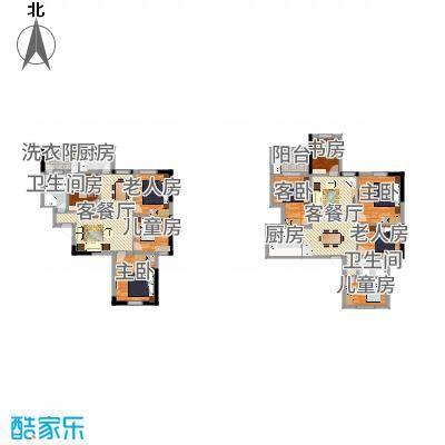 紫金银座181.79㎡紫金银座户型图户型图4室4室2厅3卫户型4室2厅3卫-副本