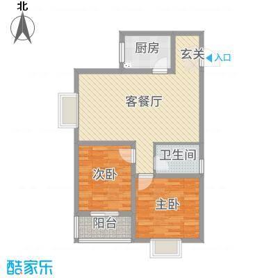 曲江・国风世家93.71㎡二期G2户型2室2厅1卫1厨