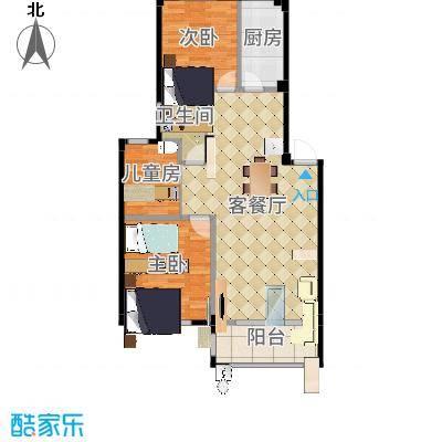 喜盛威尼斯三期92.92创意三房-内墙尺寸-布局-副本-副本-副本