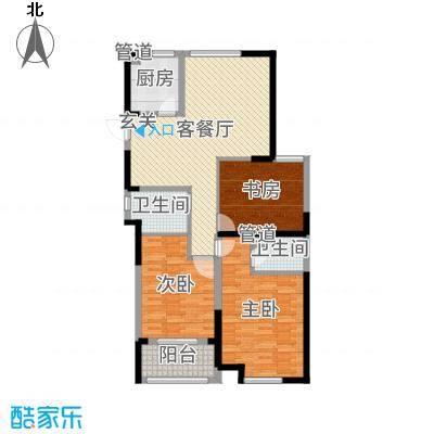 香榭里133.00㎡高层G6户型3室3厅2卫1厨