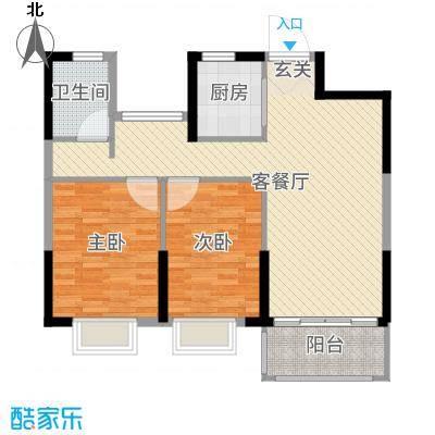 恒威国际城88.00㎡二期A1户型3室3厅1卫1厨