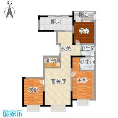 金地花园146.00㎡户型3室3厅2卫1厨