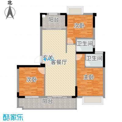 金辉城118.00㎡洋房C2(27#、28#)户型3室3厅2卫1厨