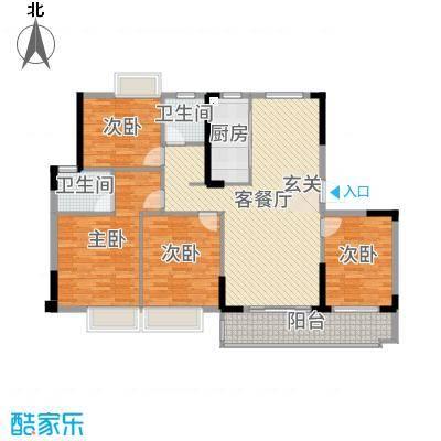 金辉城137.00㎡洋房C1(27#、28#)户型3室3厅2卫1厨