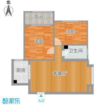 海晟花苑 91㎡ 两居室