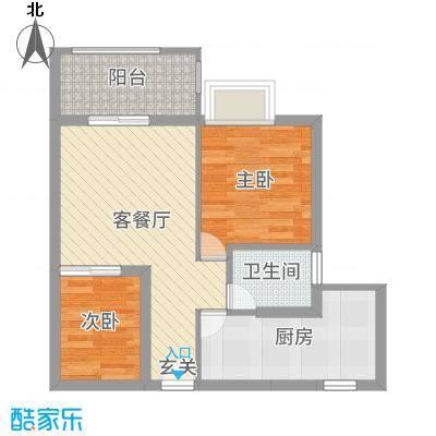 天源海景55.36㎡A2栋01/062015-10-8户型1室1厅1卫1厨
