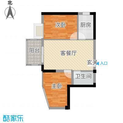 天源海景58.09㎡D2标准楼层0710单设计户型1室1厅1卫1厨