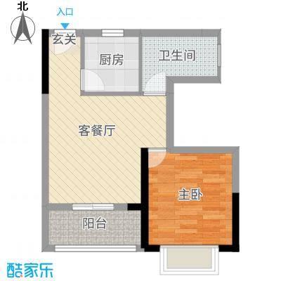天源海景63.44㎡D1栋02/052015-10-8户型1室1厅1卫1厨