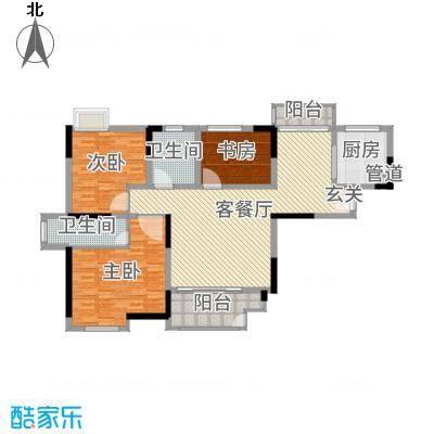 虹亚翰府广场136.00㎡G3户型3室3厅2卫
