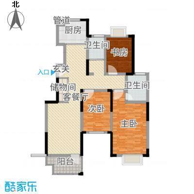 虹亚翰府广场128.00㎡G2户型3室3厅2卫