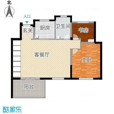 景瑞上府138.00㎡洋房7层户型2室2厅1卫2厨