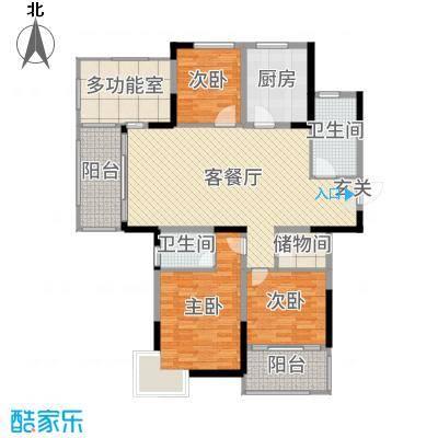 香格里拉花园137.00㎡户型3室3厅2卫