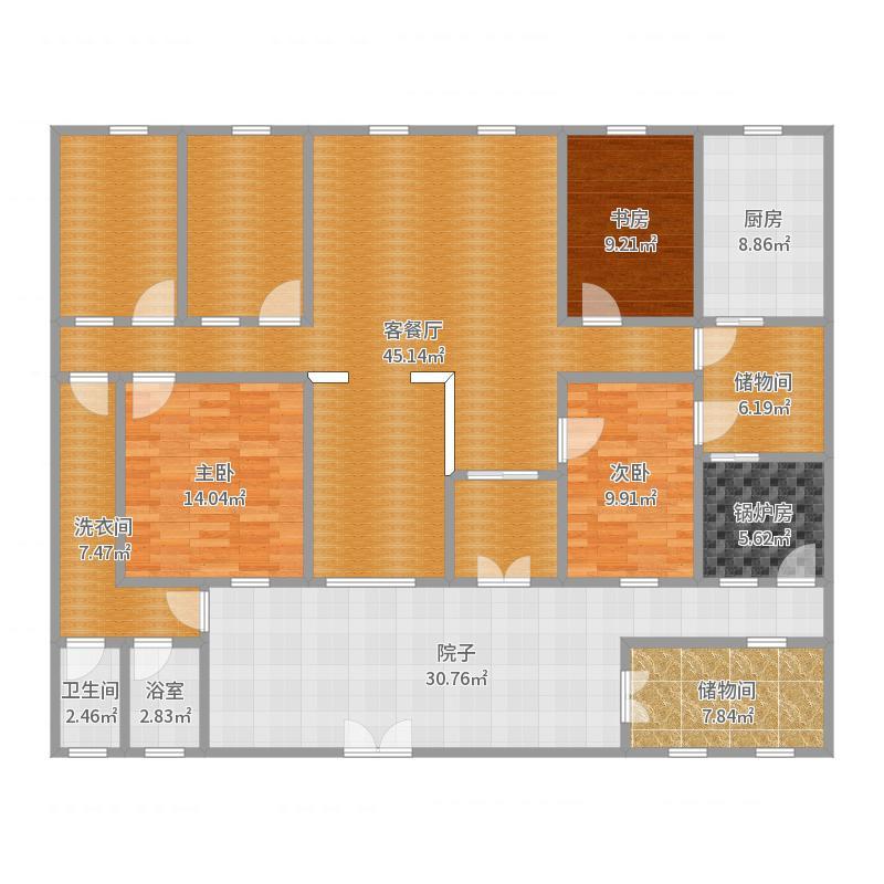 青岛农村一层平房设计图