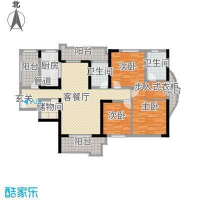 月湖琴声156.00㎡D2号楼2号房户型4室4厅2卫1厨